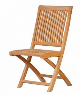 stabiler klappstuhl aus der serie vitello hochwertig gefertigt aus teakholz ohne armlehne von. Black Bedroom Furniture Sets. Home Design Ideas