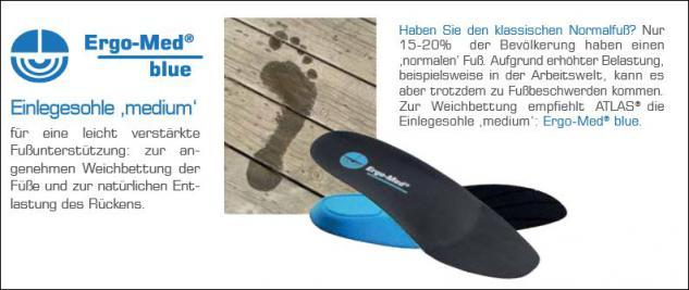Atlas Ergo-Med ® Einlegesohle Gr. 36 - 48