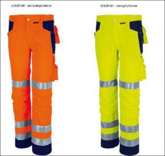 Warnschutz Bundhose warnorange/marine oder warngelb/marine - Vorschau 1