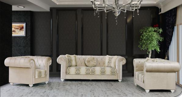 Sitzgruppe Ersin beige Klassik Barockstil Orient