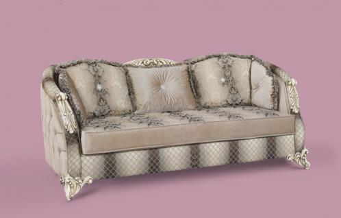 Couch Dolunay 3er braun beige Klassik Barockstil Orient
