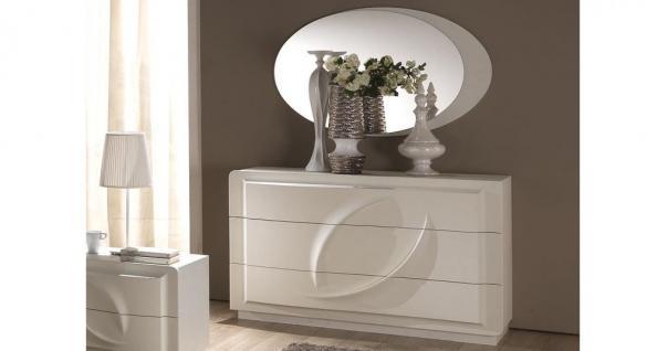 kommode mit spiegel trevia in weiss stilvoll elegante. Black Bedroom Furniture Sets. Home Design Ideas