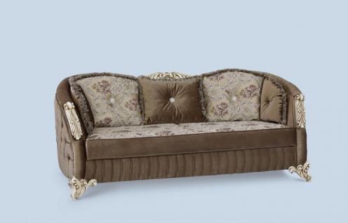 Couch Dolunay 3er braun Klassik Barockstil Orient