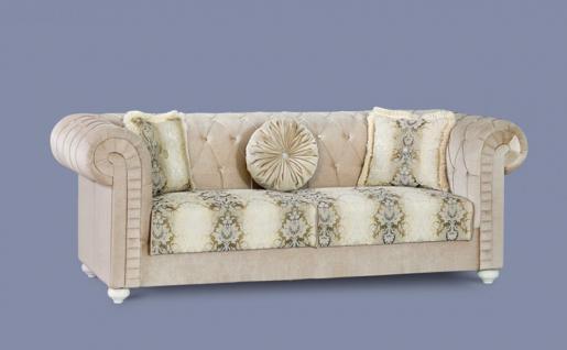 Couch Ersin beige Klassik Barockstil Orient