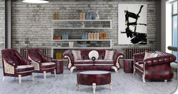 Sitzgruppe Tugra dunkelrot Klassik Barockstil Orient