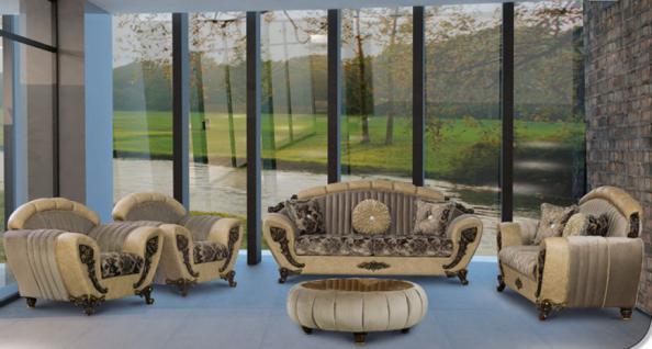 sitzgruppe mirac braun klassik barockstil orient kaufen. Black Bedroom Furniture Sets. Home Design Ideas