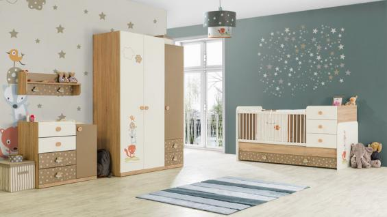 Beige Weis : Babyzimmer Carino Bett vergrößerbar braun beige weiss ...