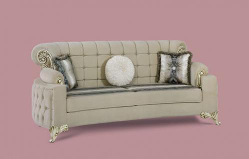 Couch Uranüs 3er beige Klassik Barockstil Orient