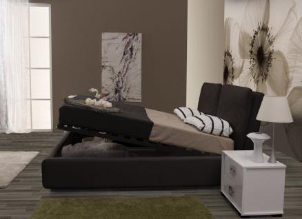 Bett muna 160x200 cm polsterbett in schwarz kaufen bei for Bett schwarz 160x200