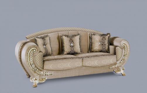 Couch Galaksi 3er beige klassik Barockstil Orient