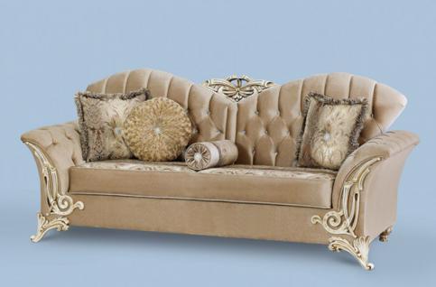 Couch Buglem 3er braun gold Klassik Barockstil Orient