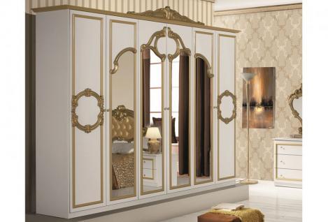 Kleiderschrank weiß barock  Kleiderschrank Weiß Hochglanz 6 Türig online kaufen - Yatego