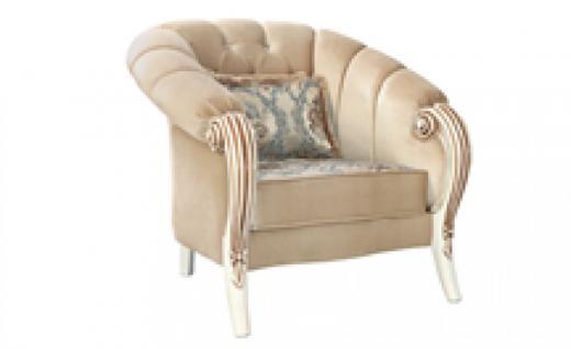 Sessel Kübra 1er beige Klassik Barockstil Orient
