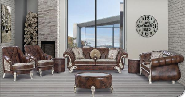 Sitzgruppe Tugra braun Klassik Barockstil Orient