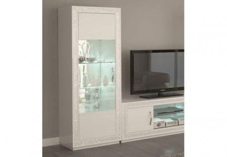 vitrine wei hochglanz glas g nstig online kaufen yatego. Black Bedroom Furniture Sets. Home Design Ideas