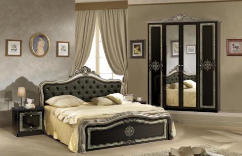 schlafzimmer schwarz online bestellen bei yatego - Schlafzimmer Schwarz Silber