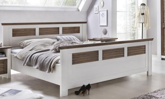 bett 180x200 massiv wei g nstig kaufen bei yatego. Black Bedroom Furniture Sets. Home Design Ideas