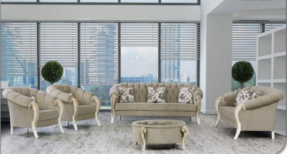 Sitzgruppe Kübra grau Klassik Barockstil Orient