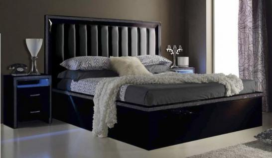 bett 200 200 cm schwarz online bestellen bei yatego. Black Bedroom Furniture Sets. Home Design Ideas
