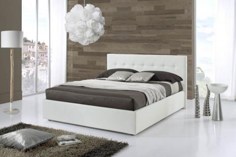 Bett Nevada 180x200 cm Polsterbett in weiss