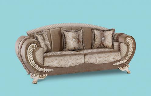 Couch Galaksi 3er braun Klassik Barockstil Orient