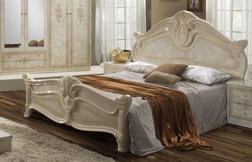 Bett in 160x200 cm Amalia in beige klassik italienisch