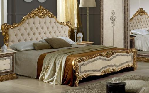 Bett 160x200 cm Jenny in Beige Gold Luxus Edel