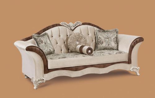 Couch Jüpiter 3er beige braun Klassik Barockstil Orient