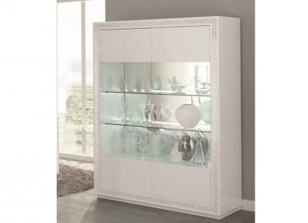 vitrine wei hochglanz glas g nstig online kaufen yatego. Black Bedroom Furniture Sets. Home Design Ideas