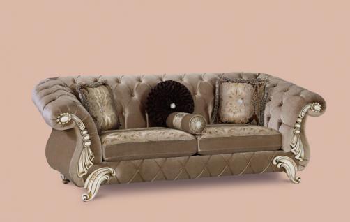 Couch Tugra 3er beige Klassik Barockstil Orient
