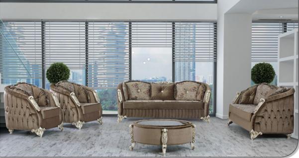 Sitzgruppe Dolunay braun Klassik Barockstil Orient