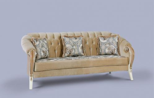 Couch Kübra beige Klassik Barockstil Orient