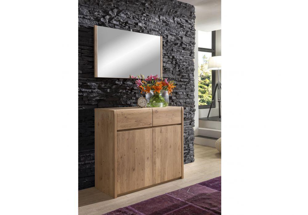 spiegel f r kommode olla asteiche bianco massiv kaufen bei kapa m bel. Black Bedroom Furniture Sets. Home Design Ideas