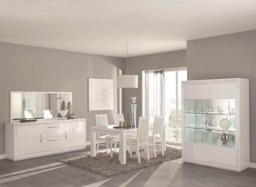 Stuhl christal in weiss hochglanz f r esszimmer kaufen for Esszimmer modern weiss