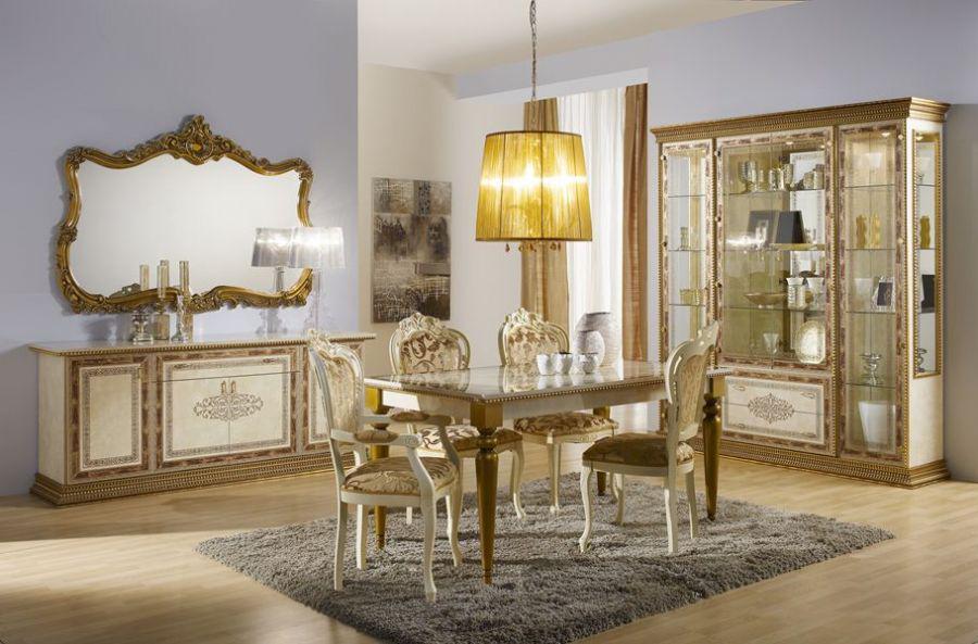Barock Esstisch Gold ~ Esstisch Jenny Tisch beige gold Luxus Italien Barock Klassik  Kaufen bei KAP