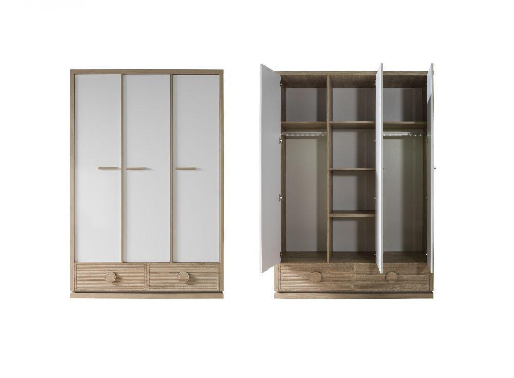 kinderzimmer alfa bett 90x200 cm natur braun weiss kaufen bei kapa m bel. Black Bedroom Furniture Sets. Home Design Ideas