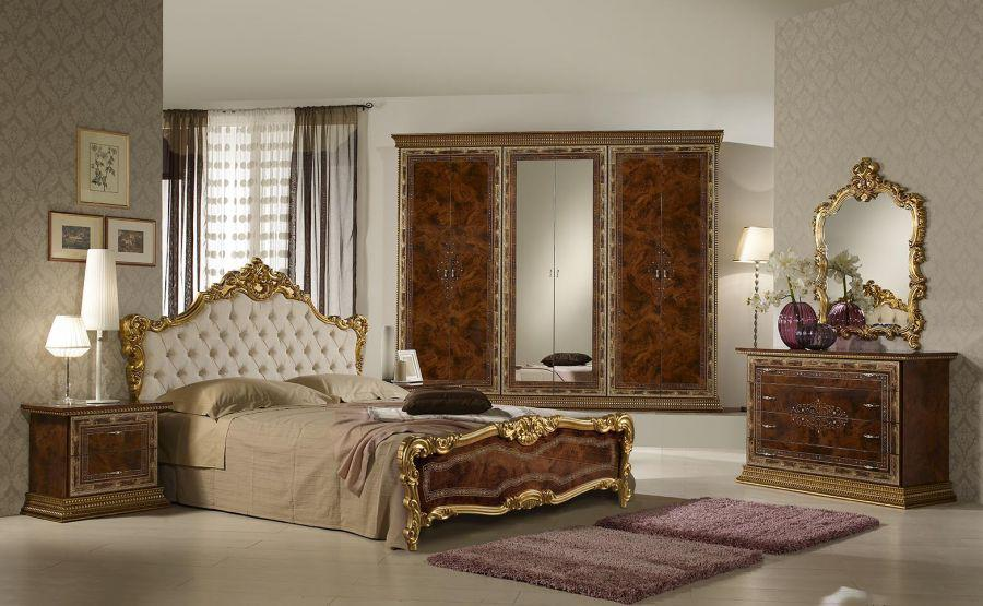 schlafzimmer jenny 160x200 cm in schwarz gold black luxus. Black Bedroom Furniture Sets. Home Design Ideas