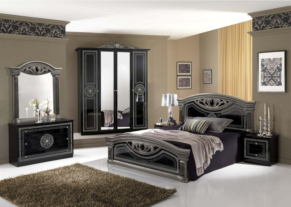 bett 180x200 cm giulia in weiss silber barock klassik kaufen bei kapa m bel. Black Bedroom Furniture Sets. Home Design Ideas