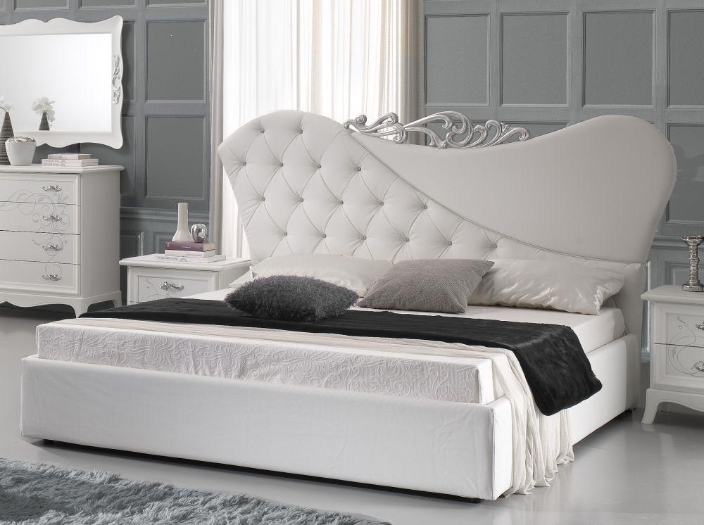 Bett 180x200cm gisell in weiss edel luxus schlafzimmer kaufen bei kapa m bel - Schlafzimmer edel ...