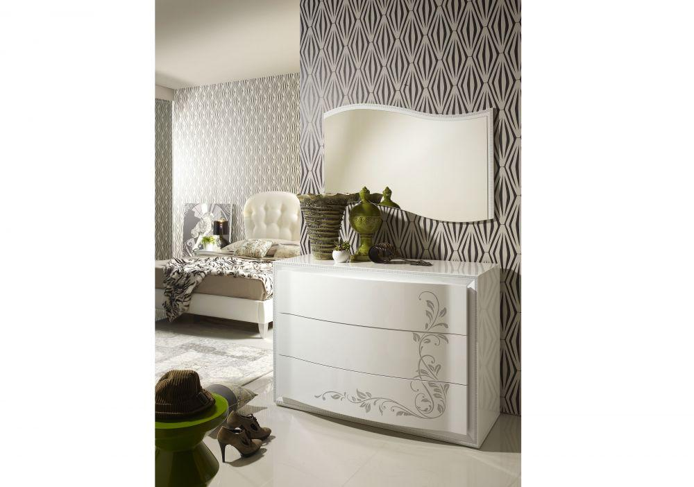 nachtkonsole harmony in weiss creme edel modern. Black Bedroom Furniture Sets. Home Design Ideas