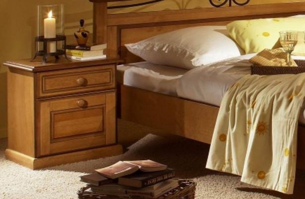 bett 160 x 200cm sandra im landhausstil weiss pinie teilmassiv kaufen bei kapa m bel. Black Bedroom Furniture Sets. Home Design Ideas