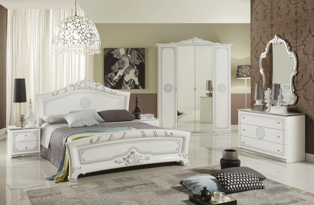 schlafzimmer great weiss silber klassische design italienisch 18 kaufen bei kapa m bel. Black Bedroom Furniture Sets. Home Design Ideas