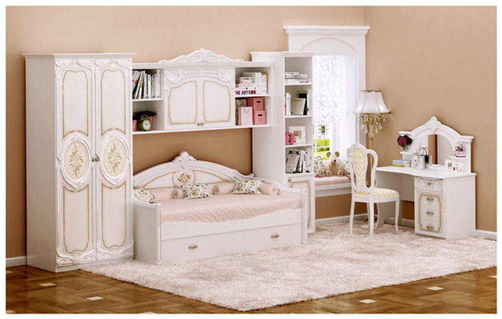 kinderzimmer rozza in beige hochglanz barock klassik m bel kaufen bei kapa m bel. Black Bedroom Furniture Sets. Home Design Ideas