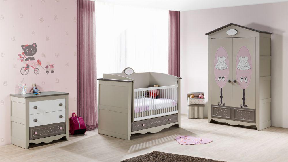 kinderzimmer houses 5 tlg braun weiss boutique schrank 3. Black Bedroom Furniture Sets. Home Design Ideas