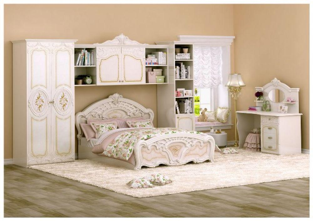 bett 140x200cm rozza beige creme italien klassik barock. Black Bedroom Furniture Sets. Home Design Ideas