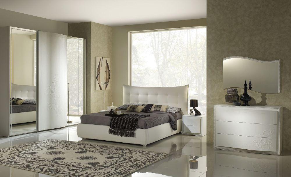 bett chana 180x200cm in weiss creme mit polster kaufen bei kapa m bel. Black Bedroom Furniture Sets. Home Design Ideas