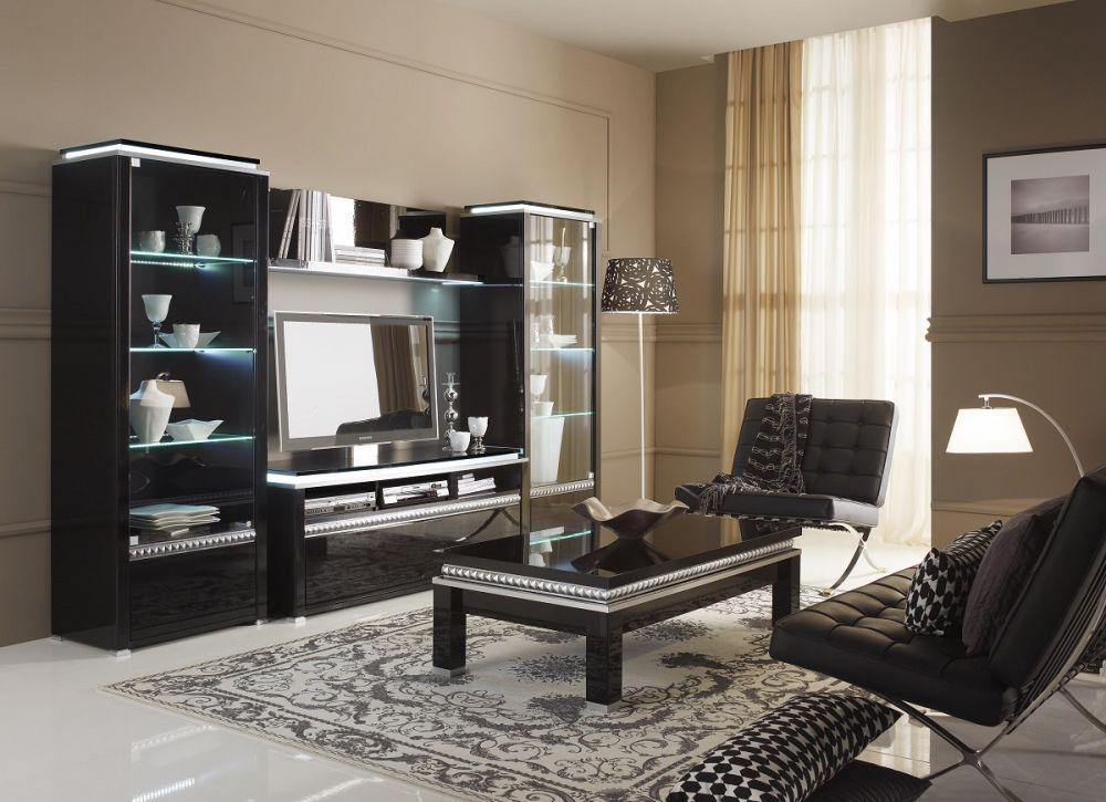 wohnzimmer in schwarz weiss stil. Black Bedroom Furniture Sets. Home Design Ideas