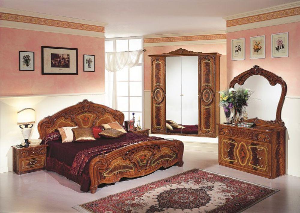 kleiderschrank rozza mahagoni klassischer design im barockstil kaufen bei kapa m bel. Black Bedroom Furniture Sets. Home Design Ideas