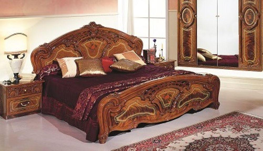 bett 180x200cm rozza beige creme italien klassik barock design kaufen bei kapa m bel. Black Bedroom Furniture Sets. Home Design Ideas