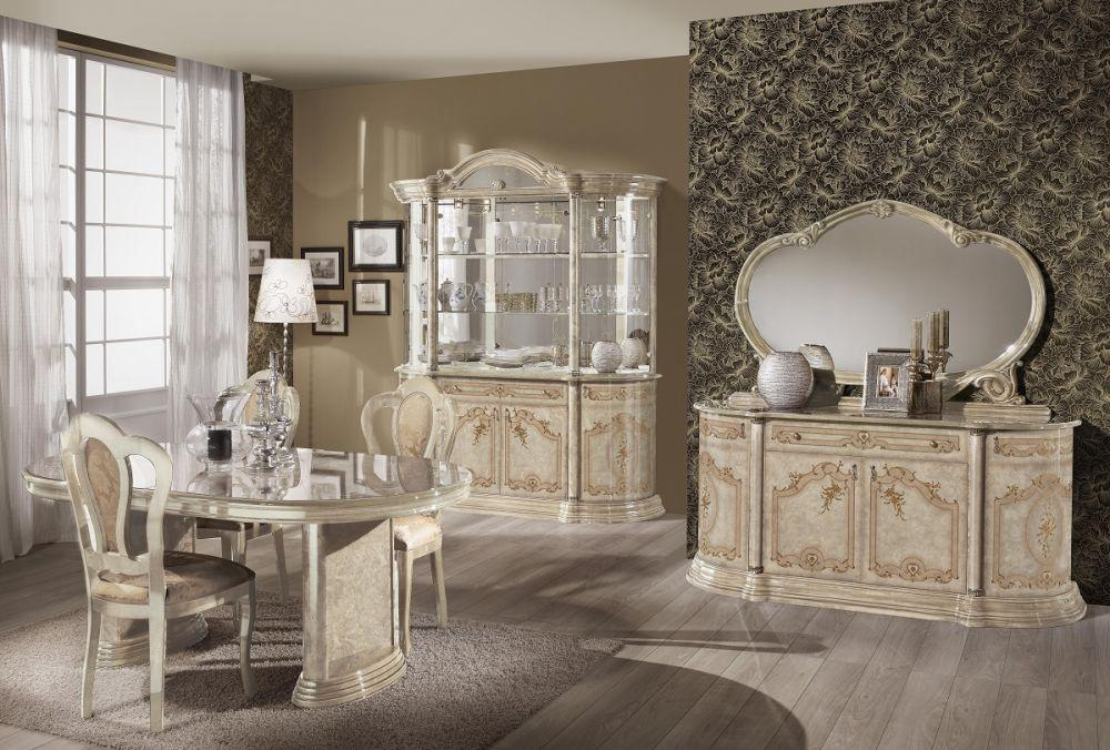 vitrine rozza in beige klassisch barock glasvitrine kaufen bei kapa m bel. Black Bedroom Furniture Sets. Home Design Ideas